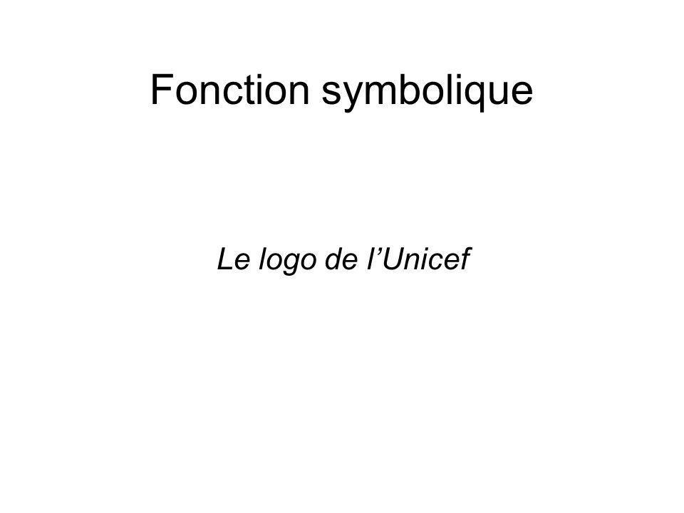 Fonction symbolique Le logo de l'Unicef