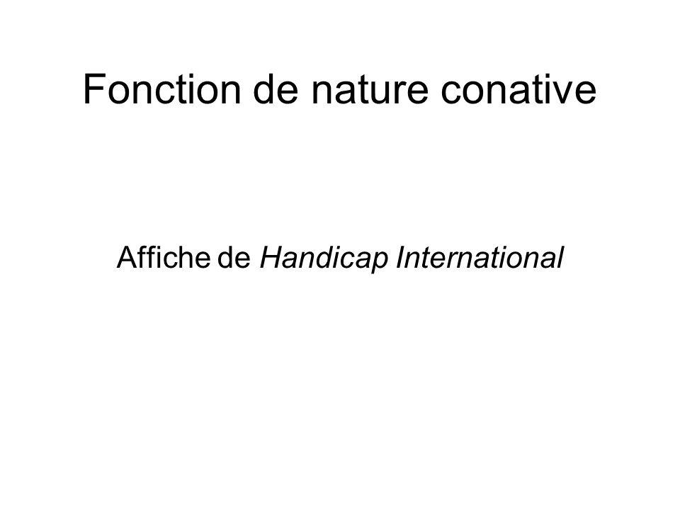 Fonction de nature conative