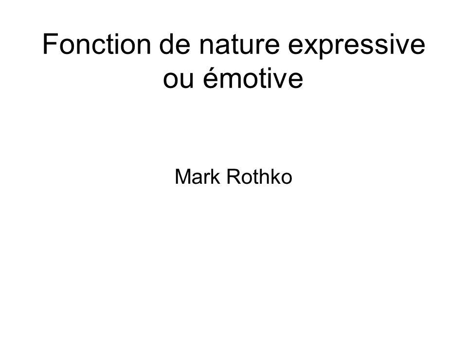 Fonction de nature expressive ou émotive