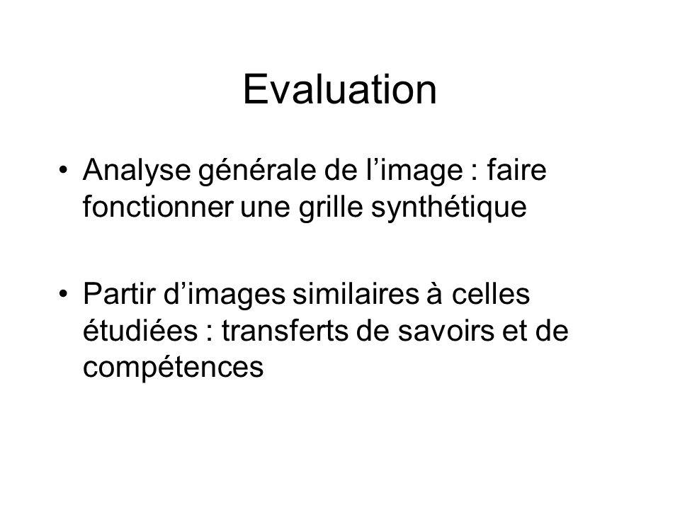 Evaluation Analyse générale de l'image : faire fonctionner une grille synthétique.