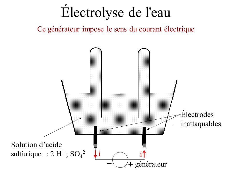 Ce générateur impose le sens du courant électrique