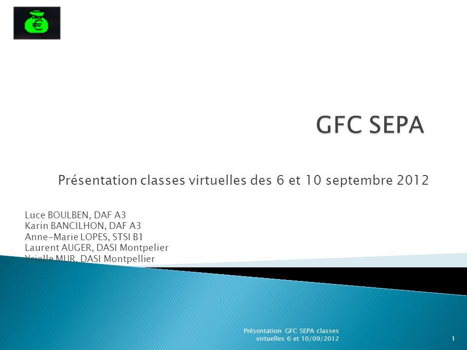 Présentation classes virtuelles des 6 et 10 septembre 2012
