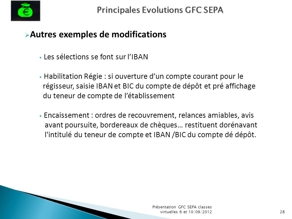 Autres exemples de modifications