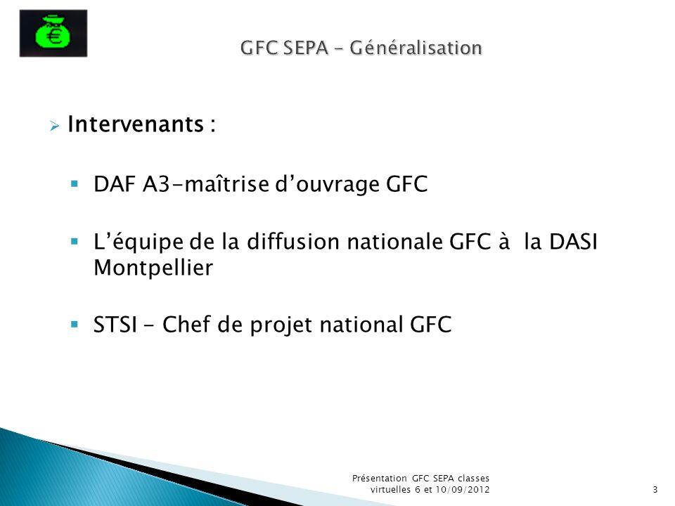 GFC SEPA - Généralisation
