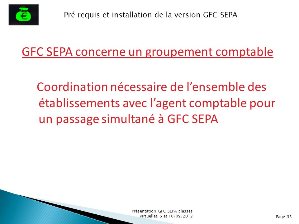 Pré requis et installation de la version GFC SEPA