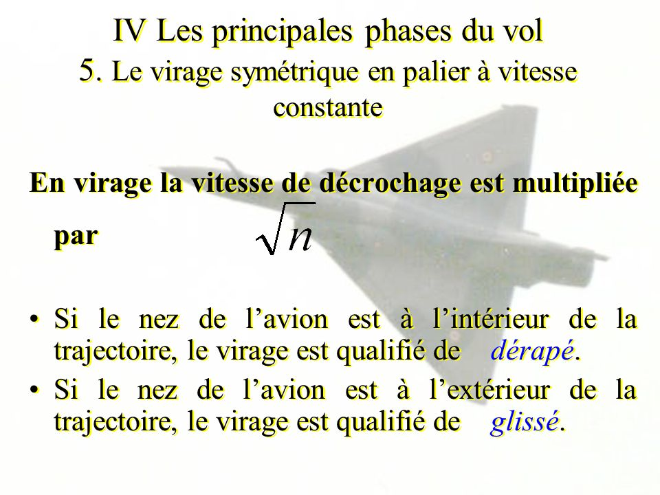 IV Les principales phases du vol 5