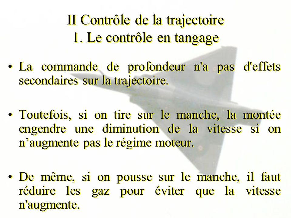 II Contrôle de la trajectoire 1. Le contrôle en tangage
