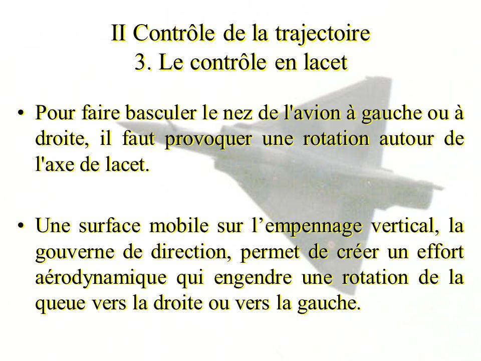II Contrôle de la trajectoire 3. Le contrôle en lacet