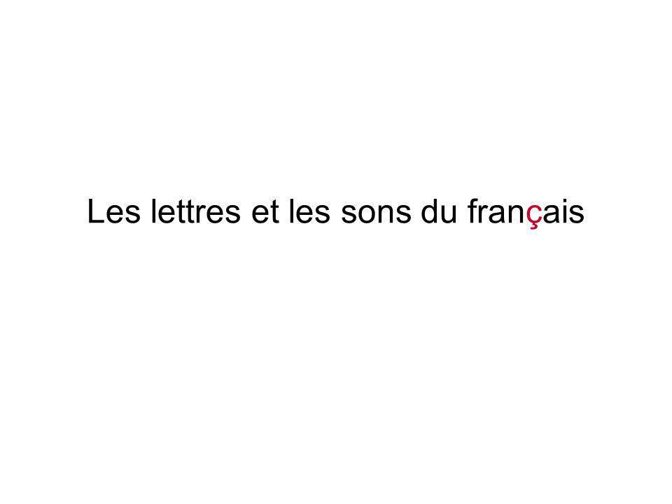 Les lettres et les sons du français