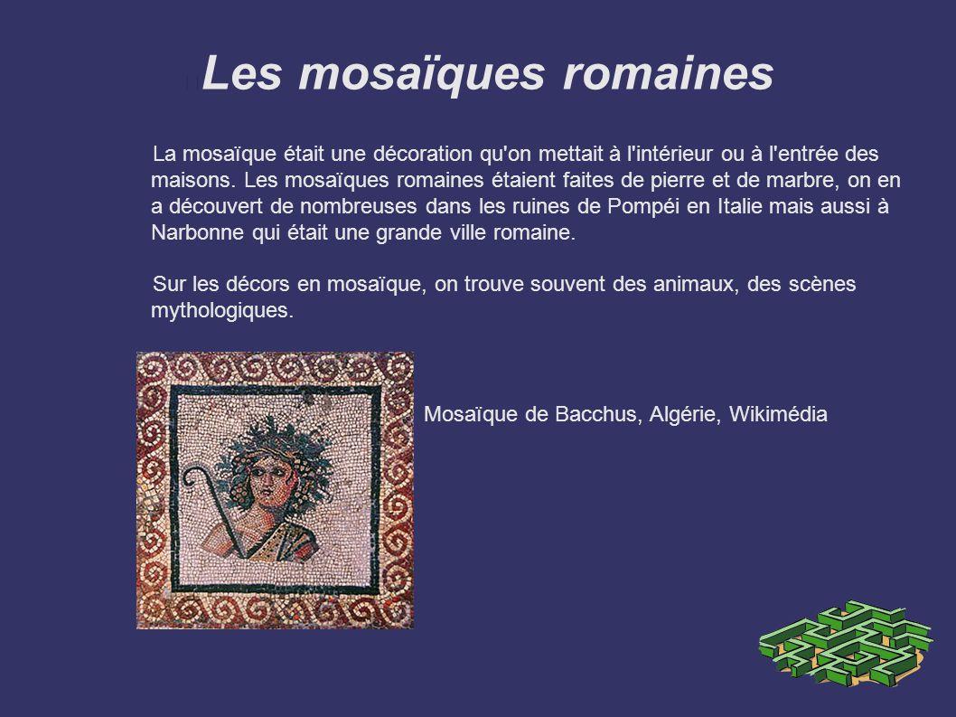 Les mosaïques romaines