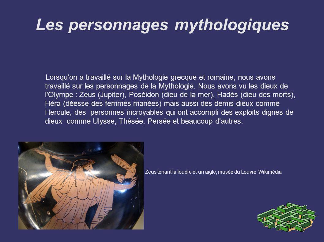 Les personnages mythologiques