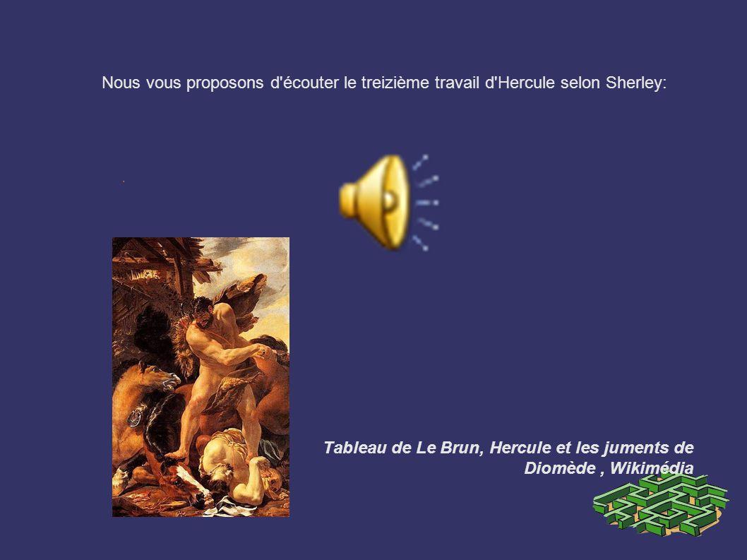 Tableau de Le Brun, Hercule et les juments de Diomède , Wikimédia