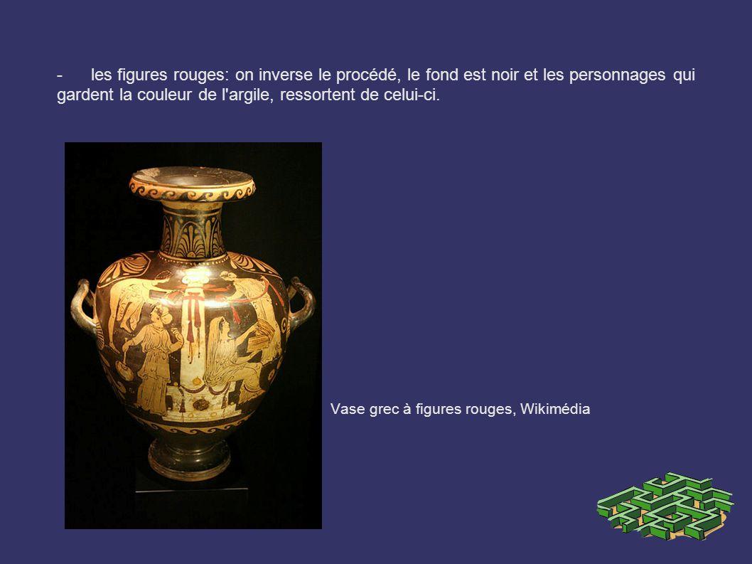 Vase grec à figures rouges, Wikimédia