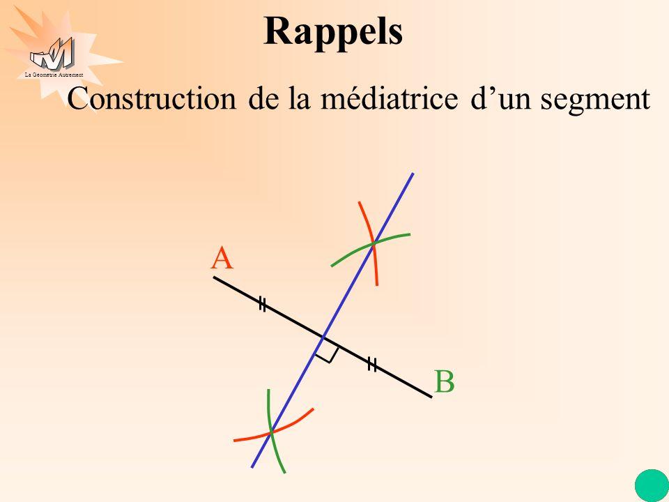 Construction de la médiatrice d'un segment