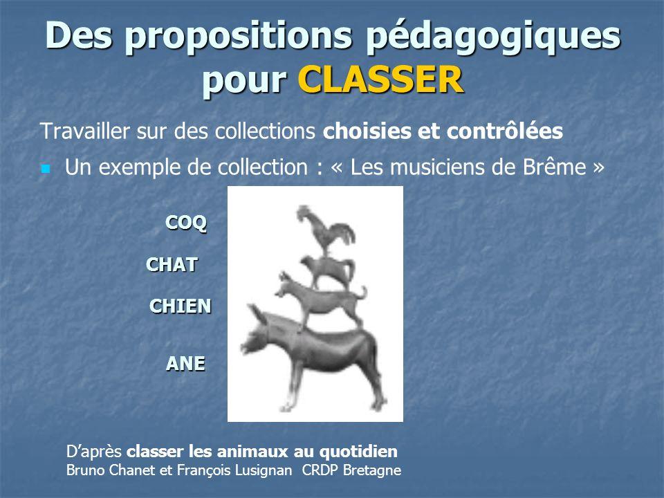 Des propositions pédagogiques pour CLASSER