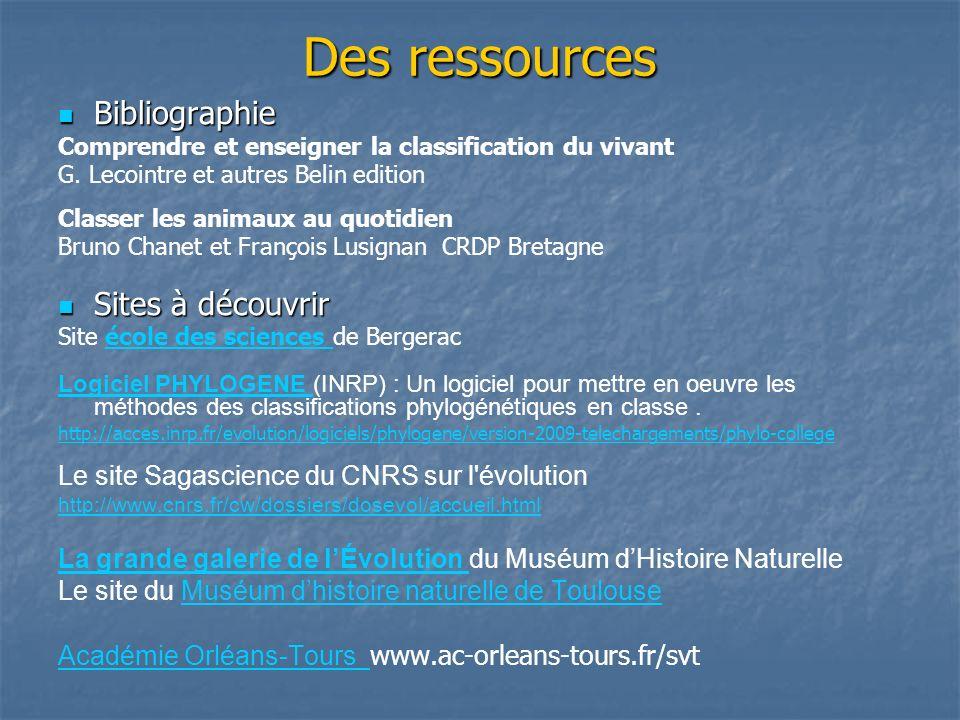 Des ressources Bibliographie Sites à découvrir