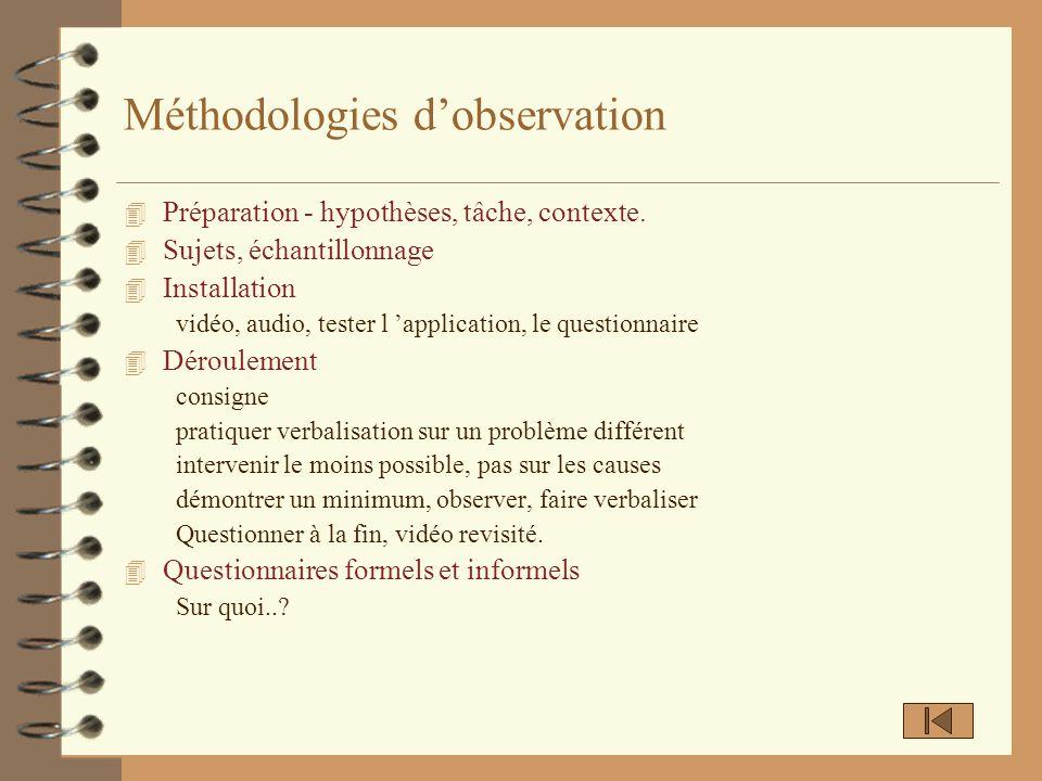 Méthodologies d'observation
