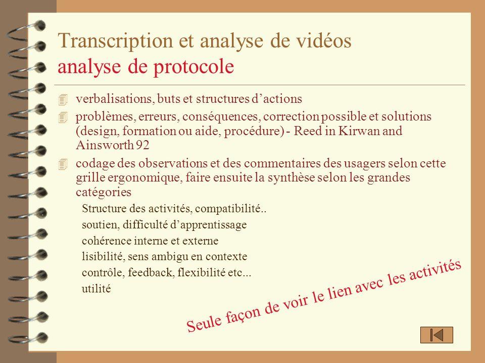 Transcription et analyse de vidéos analyse de protocole