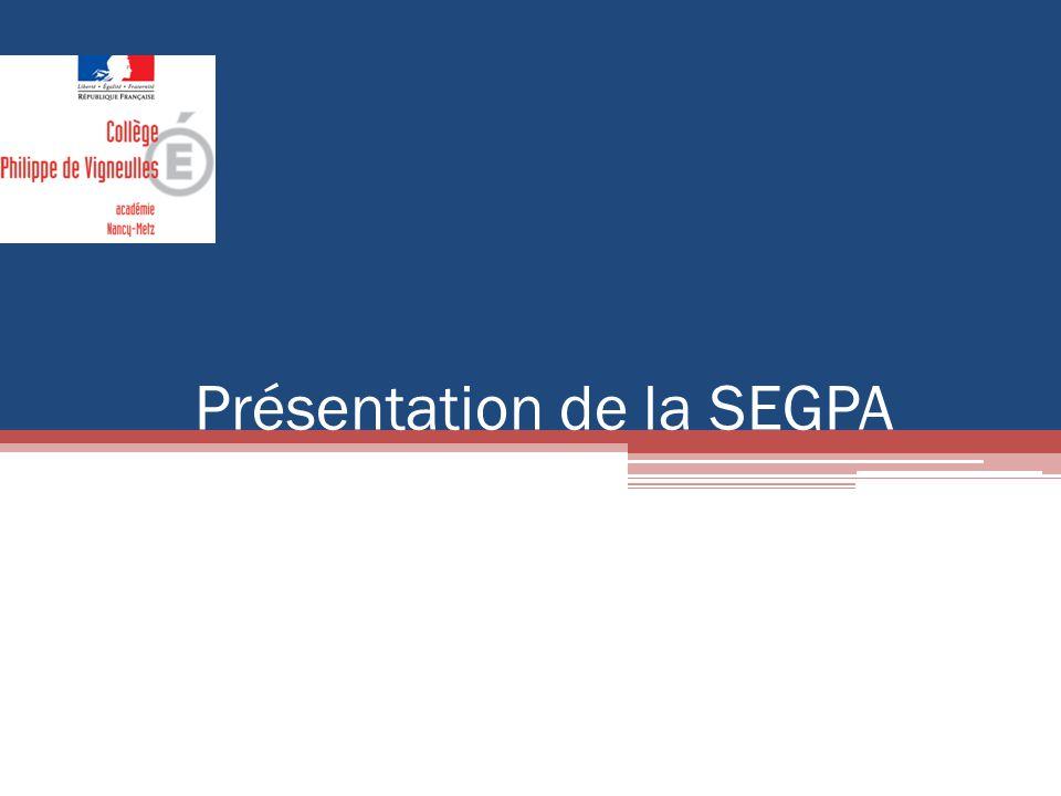 Présentation de la SEGPA