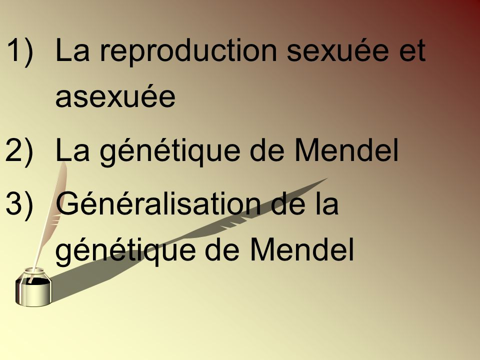 La reproduction sexuée et asexuée