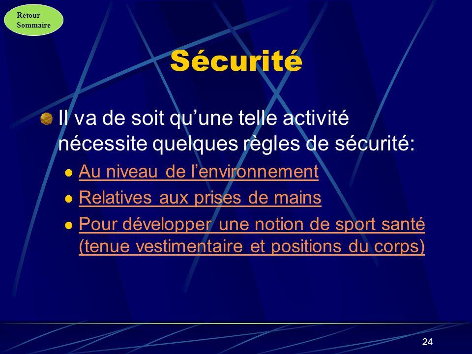 Sécurité Il va de soit qu'une telle activité nécessite quelques règles de sécurité: Au niveau de l'environnement.