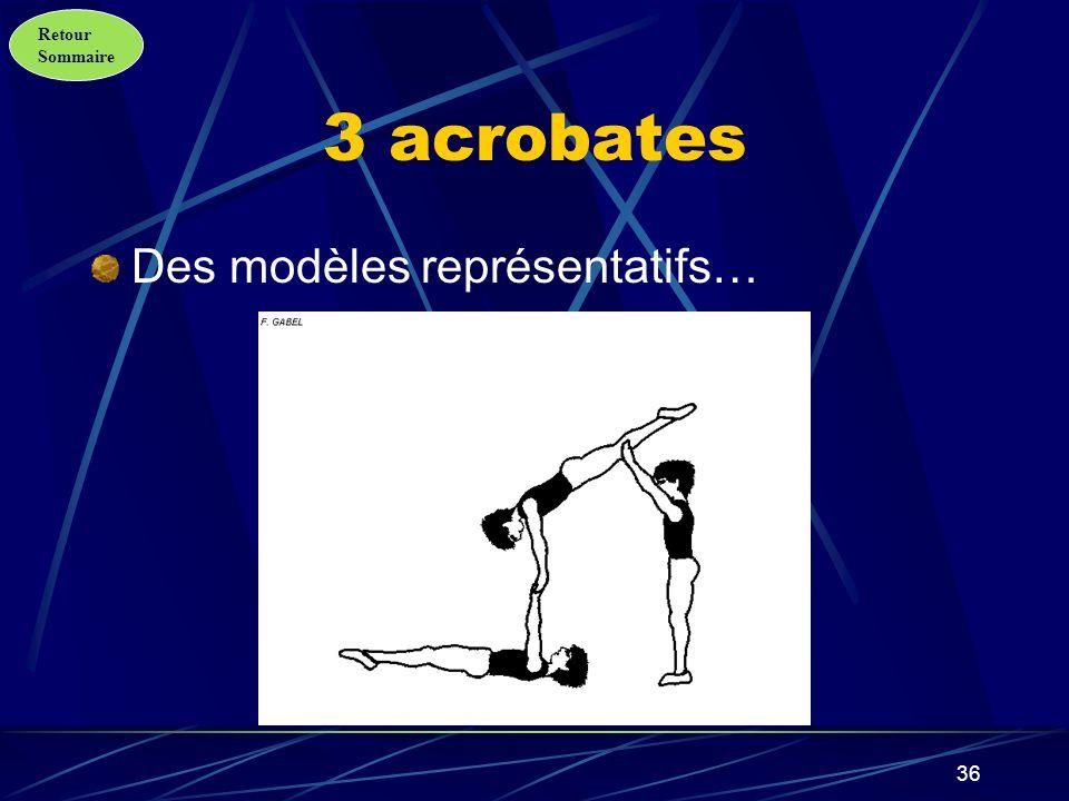 3 acrobates Des modèles représentatifs…