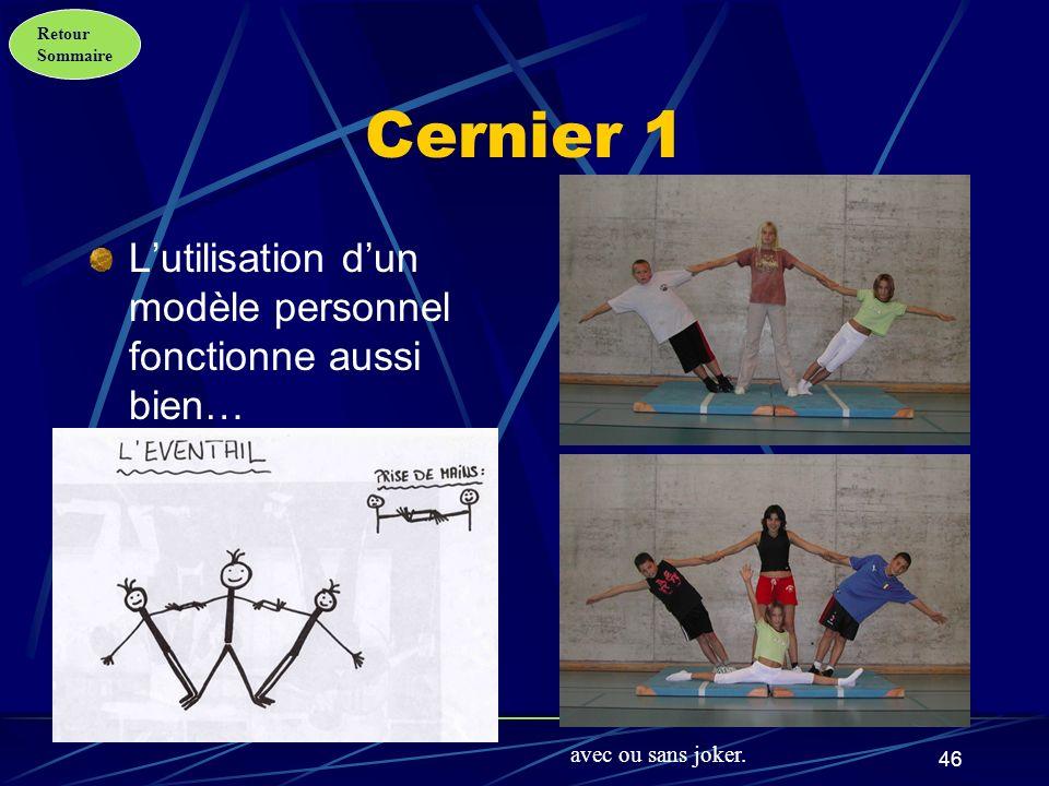 Cernier 1 L'utilisation d'un modèle personnel fonctionne aussi bien…