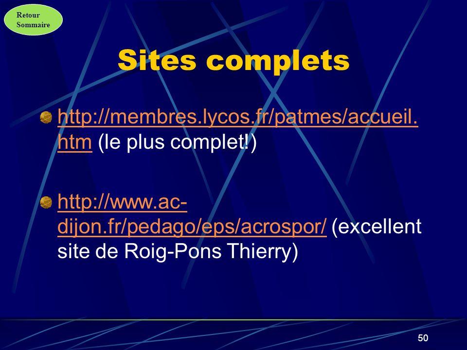 Sites complets http://membres.lycos.fr/patmes/accueil.htm (le plus complet!)