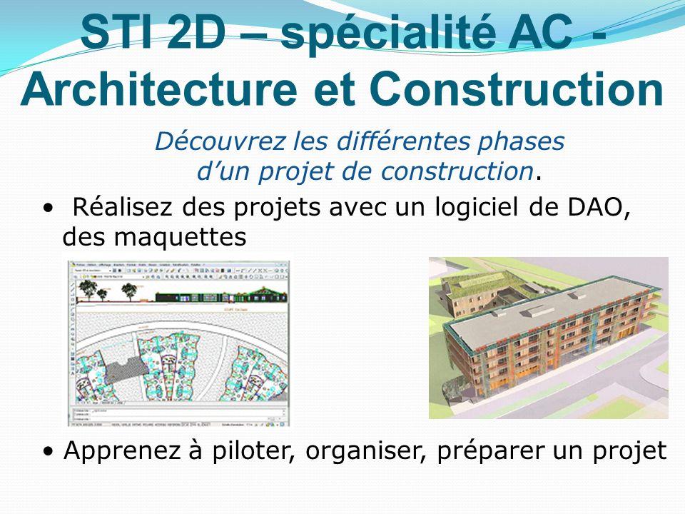 STI 2D – spécialité AC - Architecture et Construction
