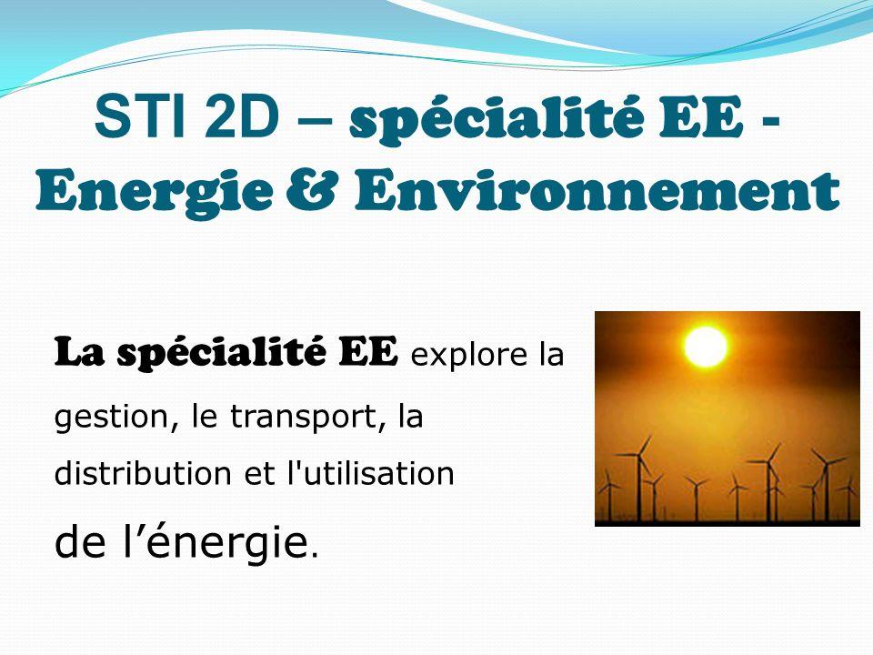 STI 2D – spécialité EE - Energie & Environnement