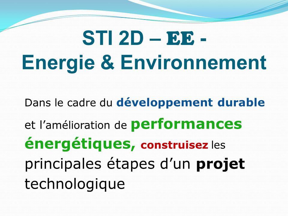 STI 2D – EE - Energie & Environnement