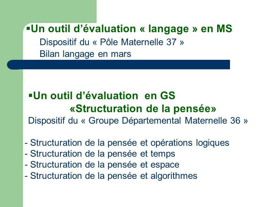 Un outil d'évaluation « langage » en MS