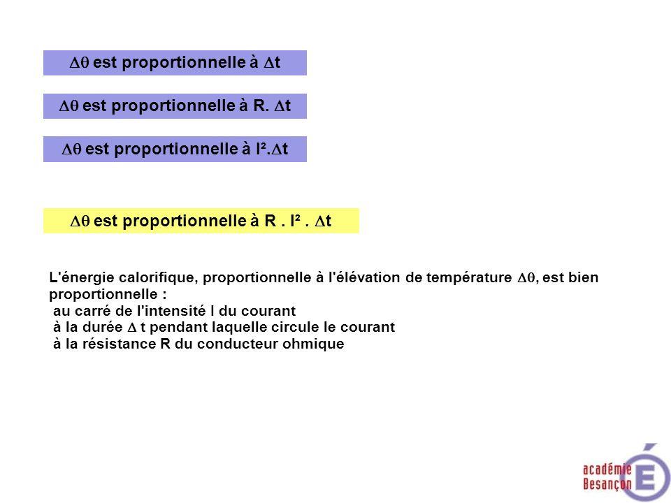 Dq est proportionnelle à Dt