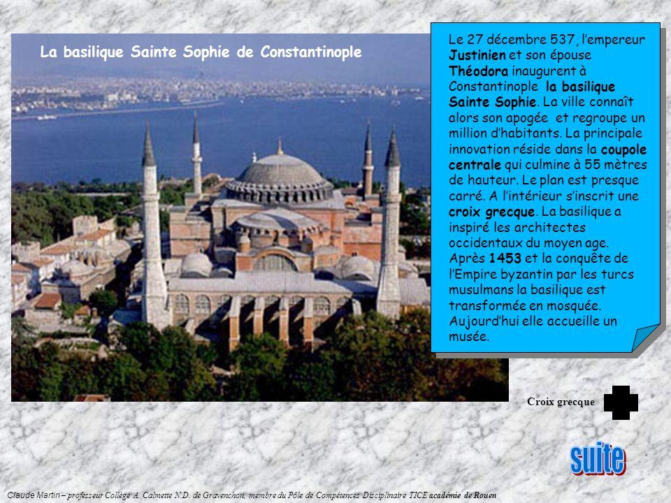 suite La basilique Sainte Sophie de Constantinople