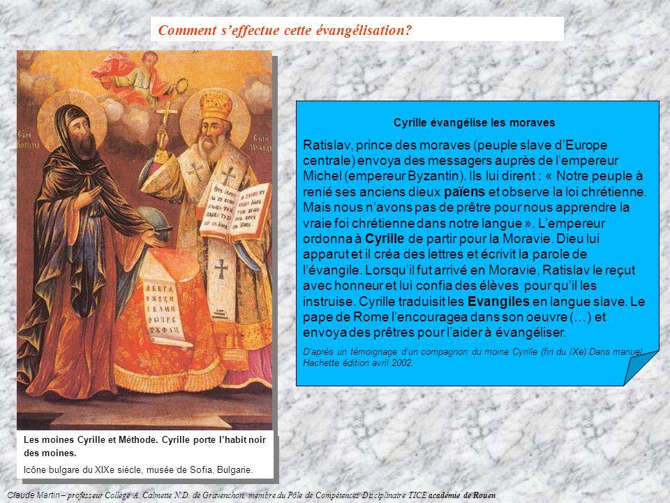 Cyrille évangélise les moraves