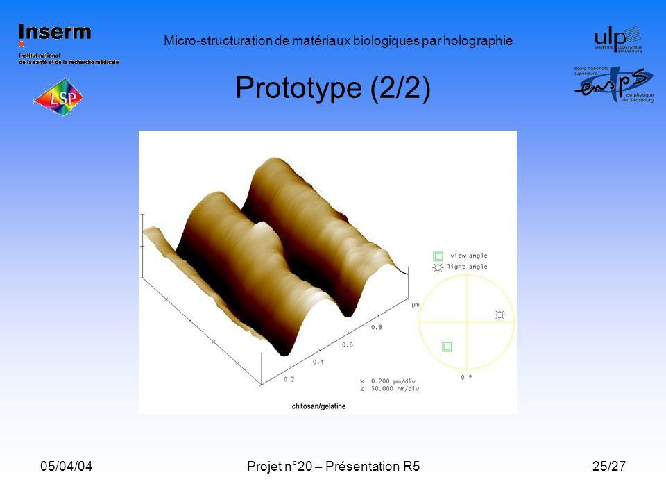 Micro-structuration de matériaux biologiques par holographie