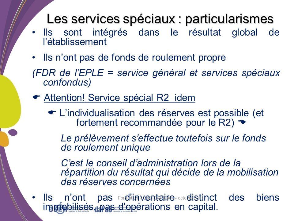 Les services spéciaux : particularismes
