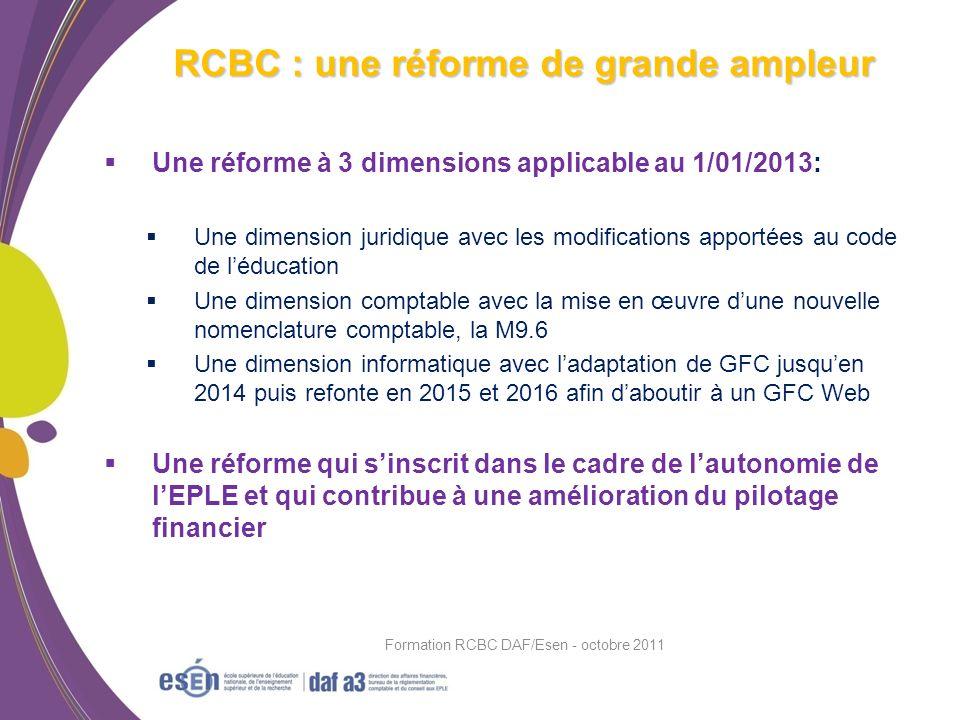RCBC : une réforme de grande ampleur