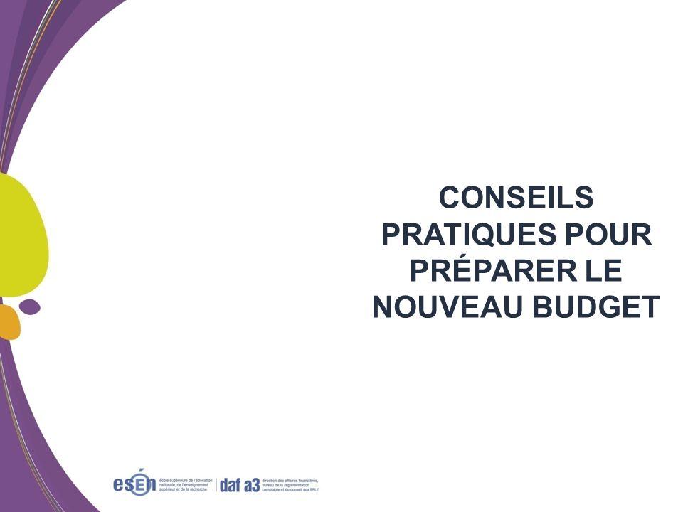 CONSEILS PRATIQUES POUR PRÉPARER LE NOUVEAU BUDGET