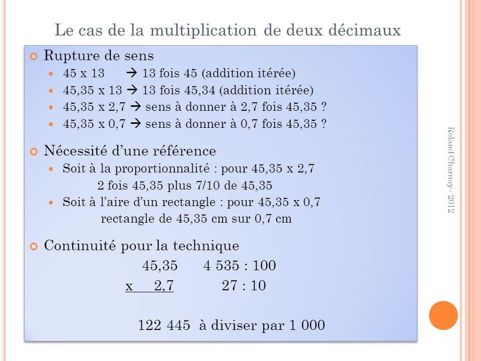 Le cas de la multiplication de deux décimaux