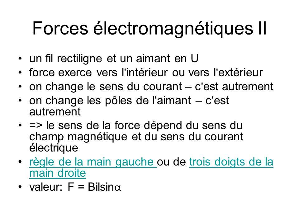 Forces électromagnétiques II
