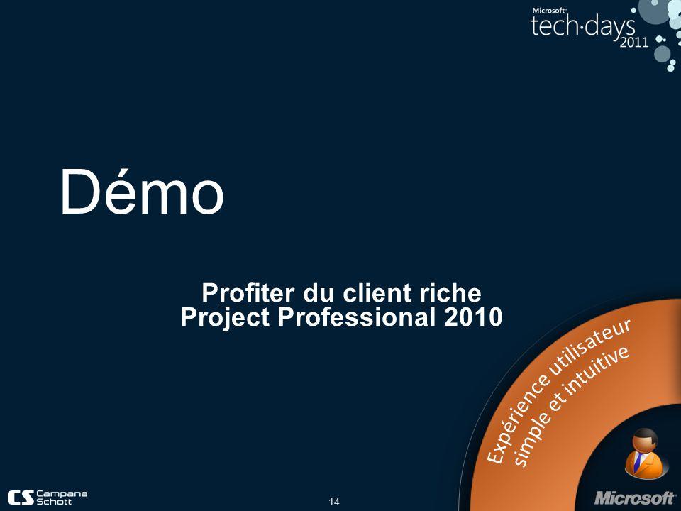 Profiter du client riche Project Professional 2010