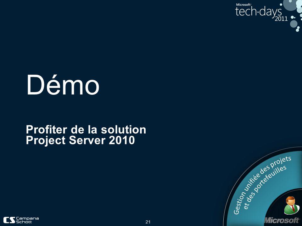 Profiter de la solution Project Server 2010