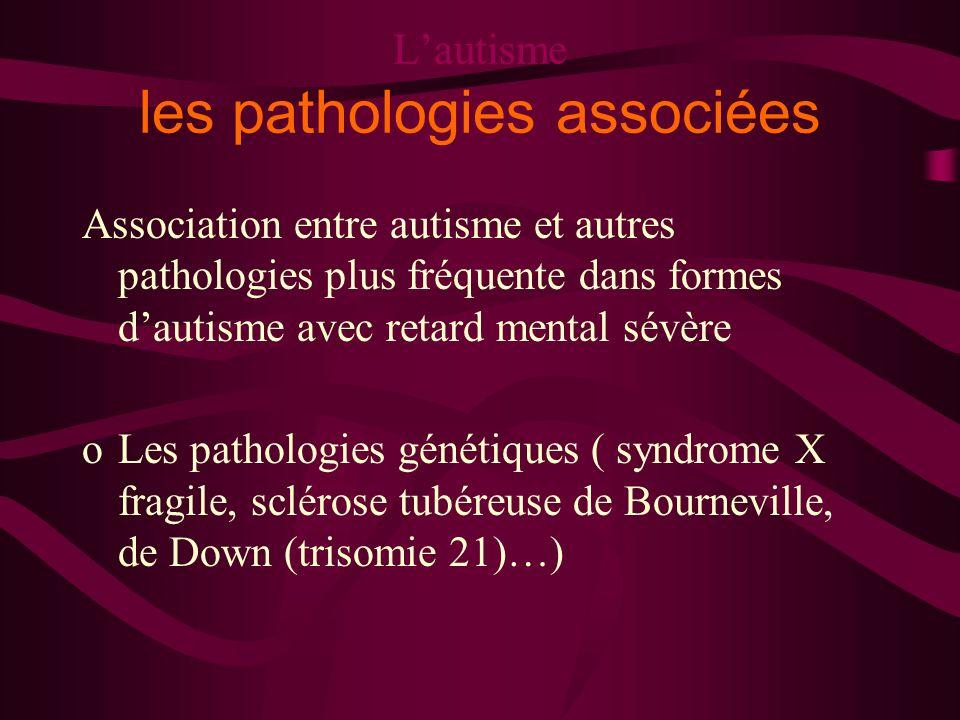 L'autisme les pathologies associées