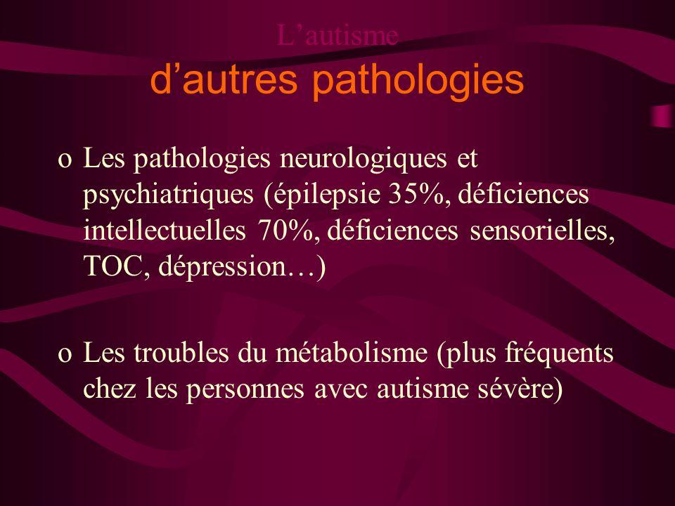 L'autisme d'autres pathologies