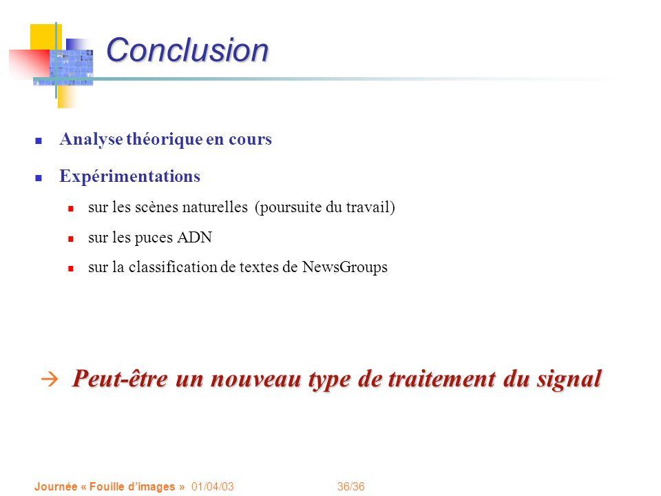 Conclusion Peut-être un nouveau type de traitement du signal