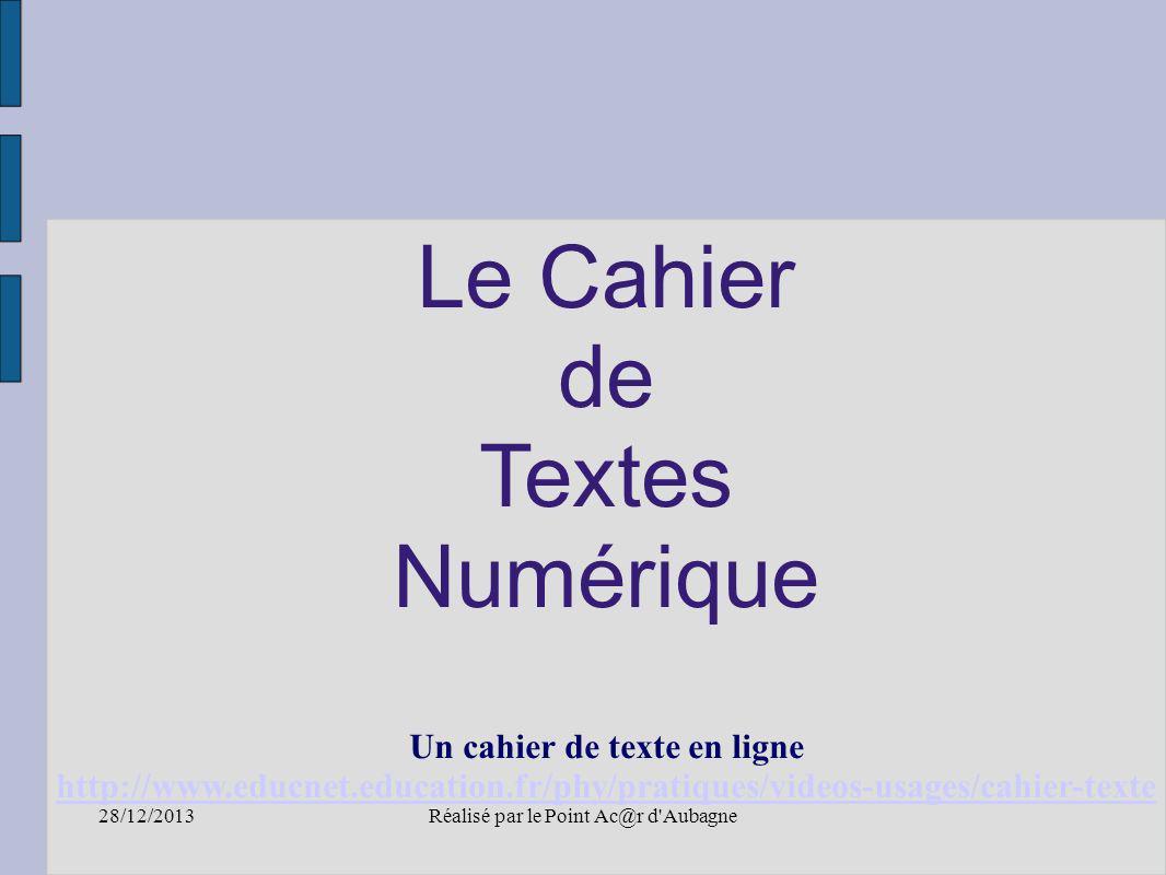 un cahier de texte en ligne