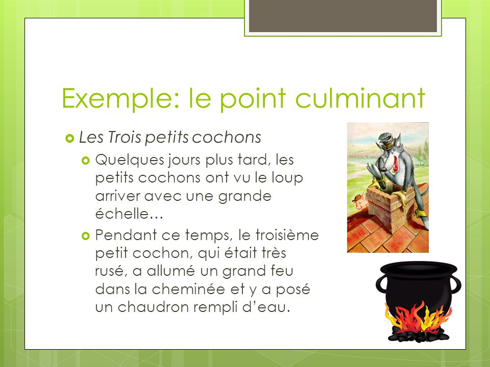 Exemple: le point culminant