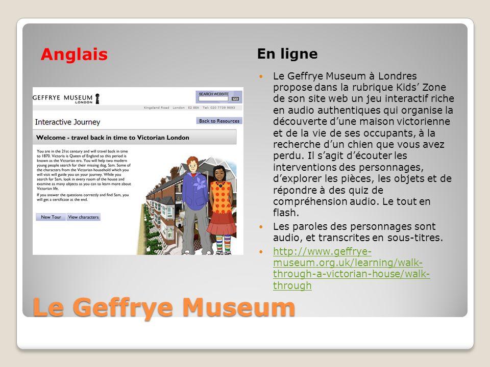 Le Geffrye Museum Anglais En ligne