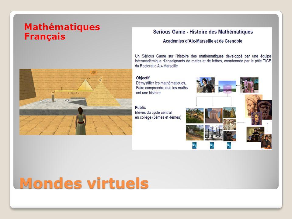 Mondes virtuels Mathématiques Français